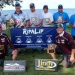 Lake Winni 7/19  L-R T Browen, R Wurzl, S Zupfer, G Jones, A Jackson, M Staples  Kneeling:  B Ullman - A Orgon